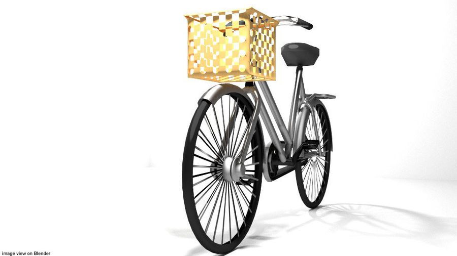 Bicycle - Classic royalty-free 3d model - Preview no. 3