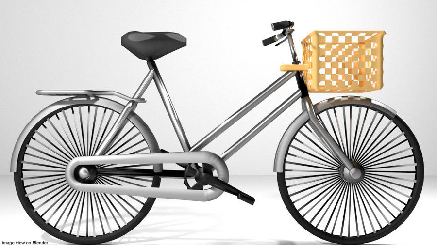 Bicycle - Classic royalty-free 3d model - Preview no. 2