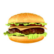 Hamburger photoréaliste 3d model