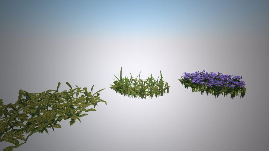環境のための草と花 royalty-free 3d model - Preview no. 1