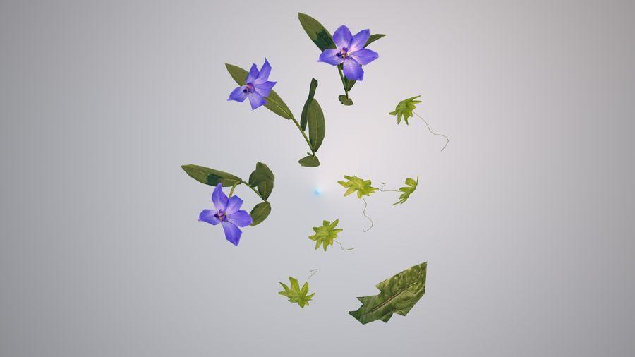 環境のための草と花 royalty-free 3d model - Preview no. 3