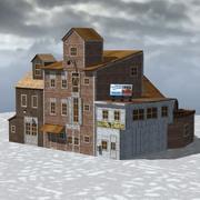 Poser İskele Binası 3d model