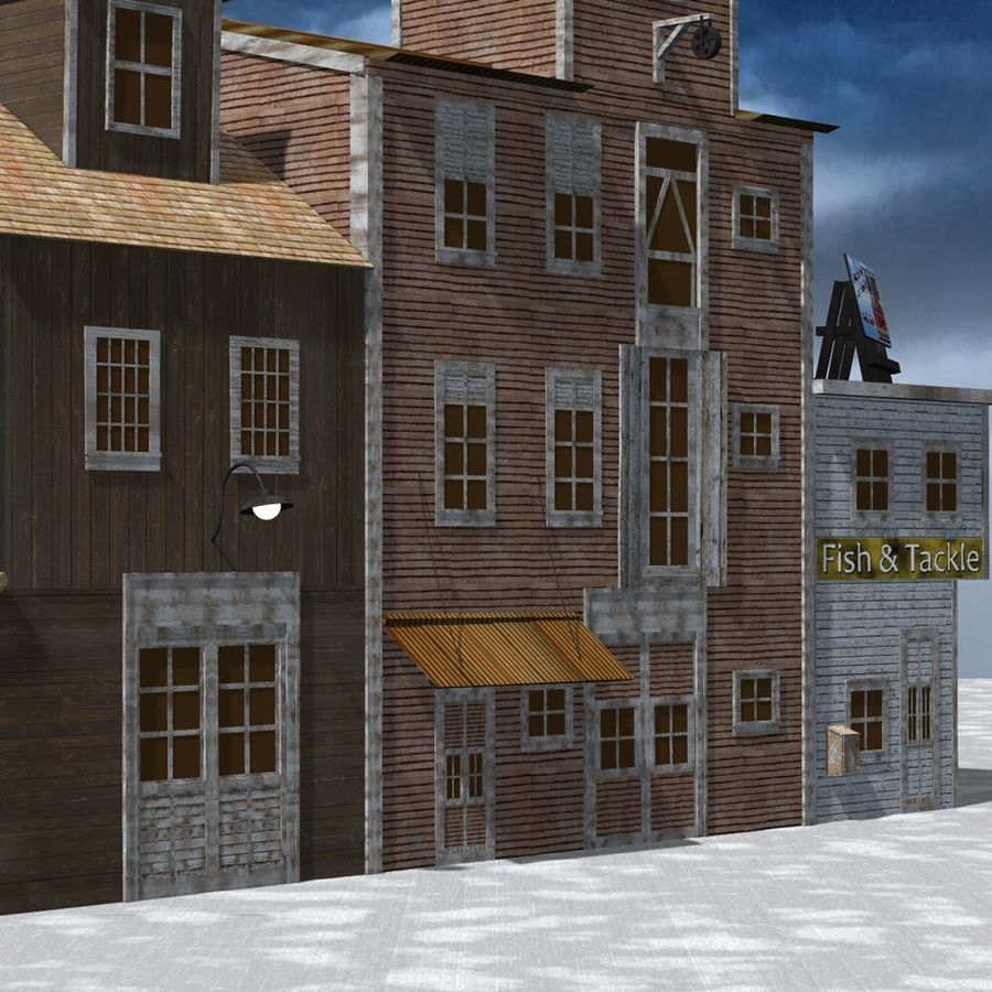 Wharf Building for Poser royalty-free 3d model - Preview no. 10