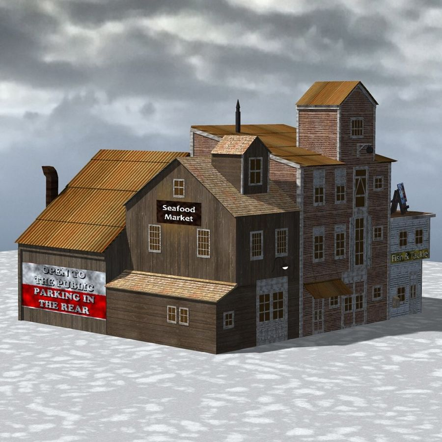 Wharf Building for Poser royalty-free 3d model - Preview no. 2