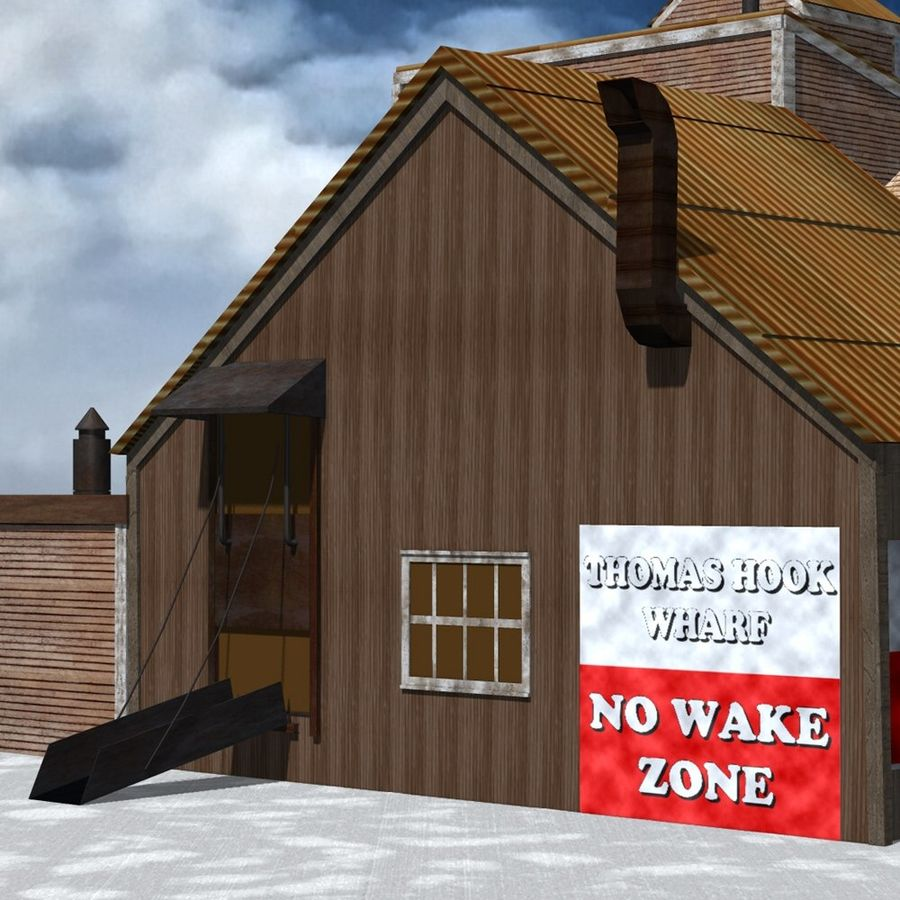 Wharf Building for Poser royalty-free 3d model - Preview no. 8