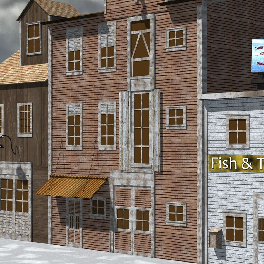 Wharf Building for Poser royalty-free 3d model - Preview no. 6