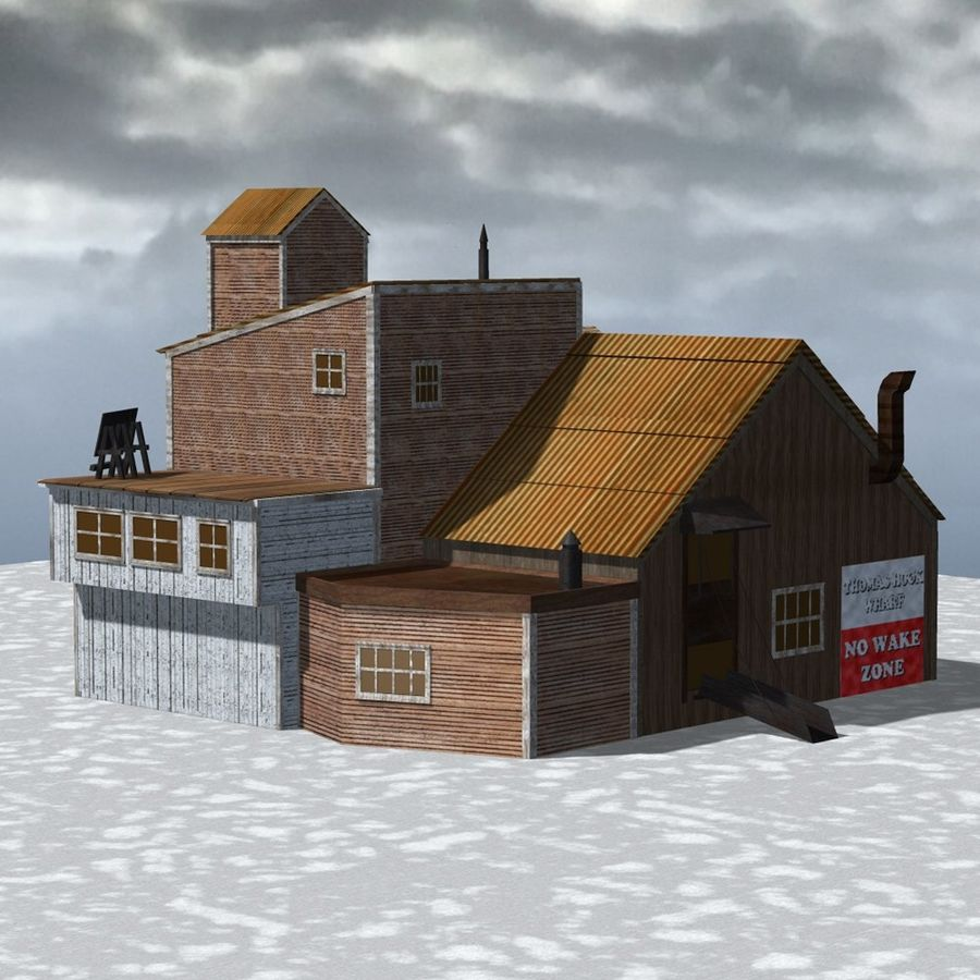 Wharf Building for Poser royalty-free 3d model - Preview no. 3