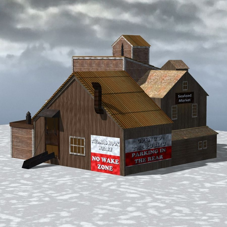 Wharf Building for Poser royalty-free 3d model - Preview no. 4