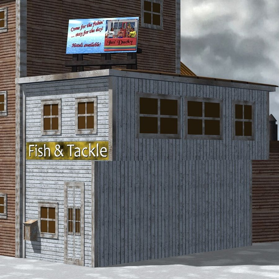 Wharf Building for Poser royalty-free 3d model - Preview no. 7