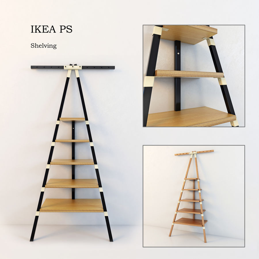 Hylla IKEA PS royalty-free 3d model - Preview no. 1