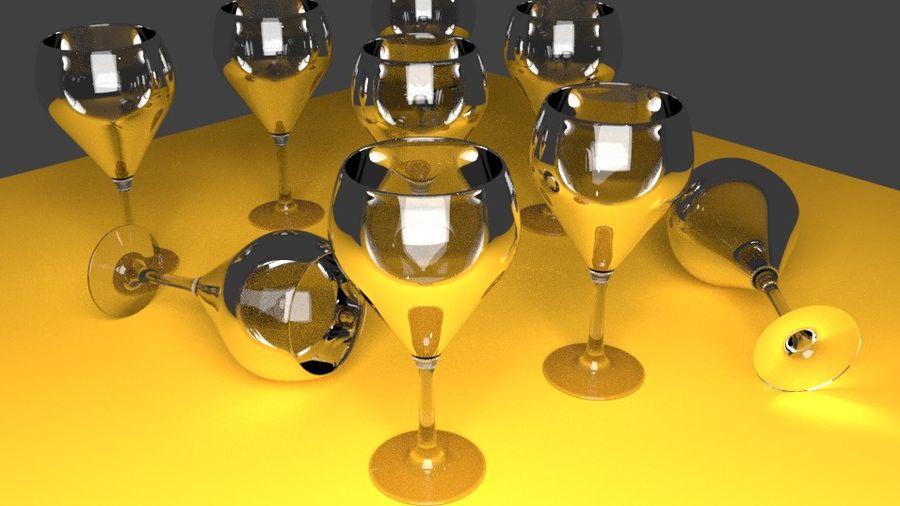 бокал вина royalty-free 3d model - Preview no. 1