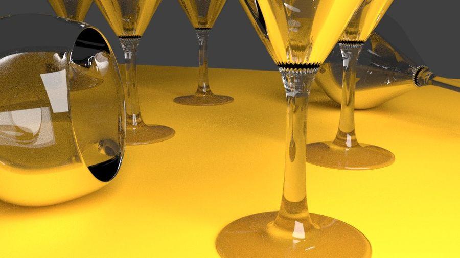 бокал вина royalty-free 3d model - Preview no. 2
