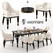 Visionnaire bord & stol set 3d model