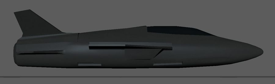 Jet royalty-free modelo 3d - Preview no. 4