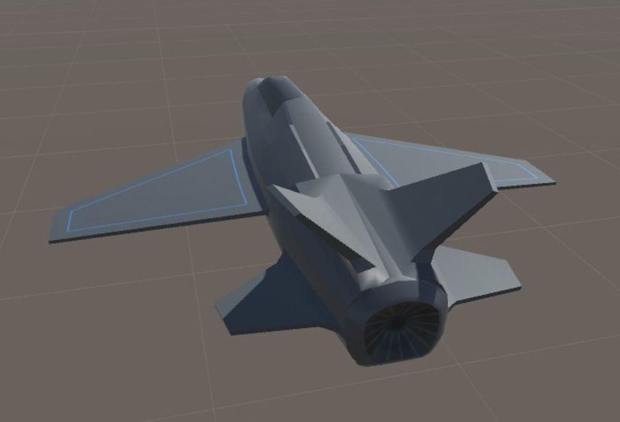 Jet royalty-free modelo 3d - Preview no. 13