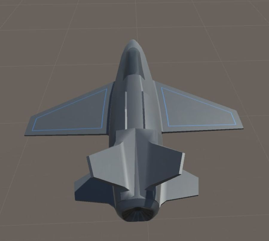 Jet royalty-free modelo 3d - Preview no. 15