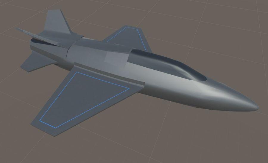 Jet royalty-free modelo 3d - Preview no. 11