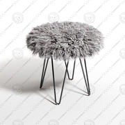 Curly Hairpin 18 Stool 3d model