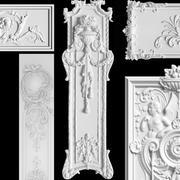 Cartouches de panneau de sculpture SET 3d model