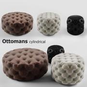 Set cilindrico ottomani 3d model
