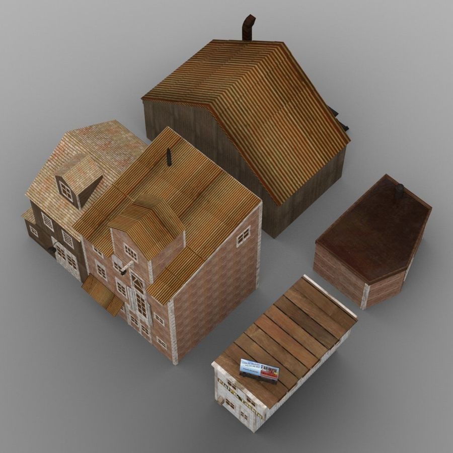 Wharf Building obj format royalty-free 3d model - Preview no. 5
