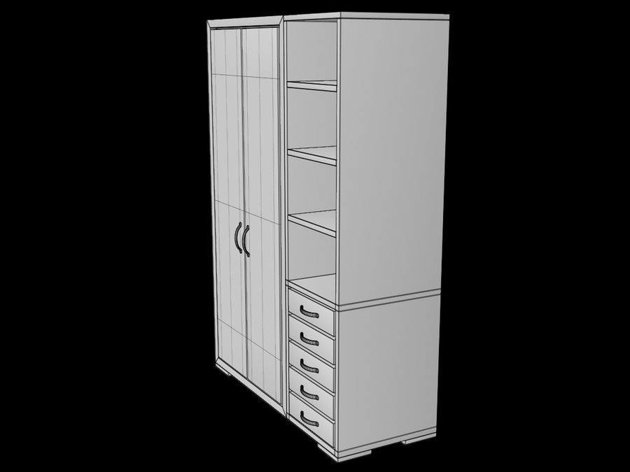 Armoire royalty-free 3d model - Preview no. 15