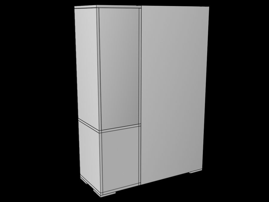 Armoire royalty-free 3d model - Preview no. 16
