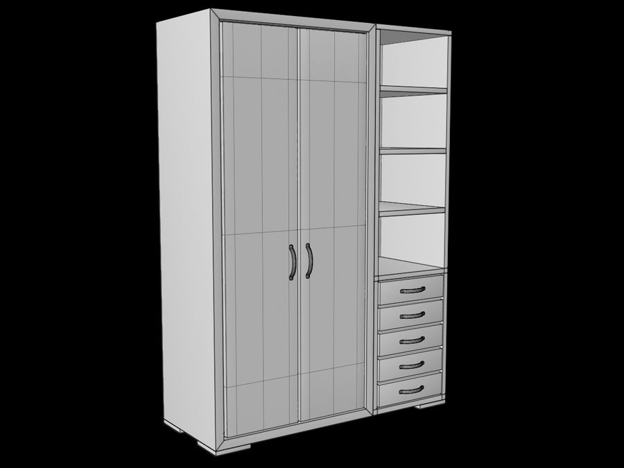Armoire royalty-free 3d model - Preview no. 13