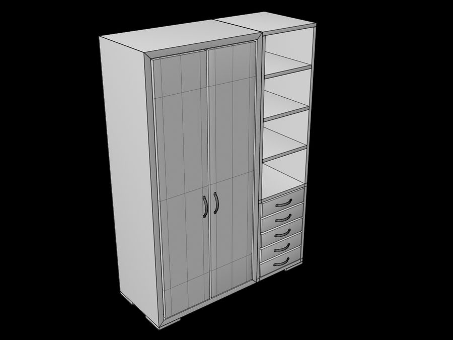 Armoire royalty-free 3d model - Preview no. 17