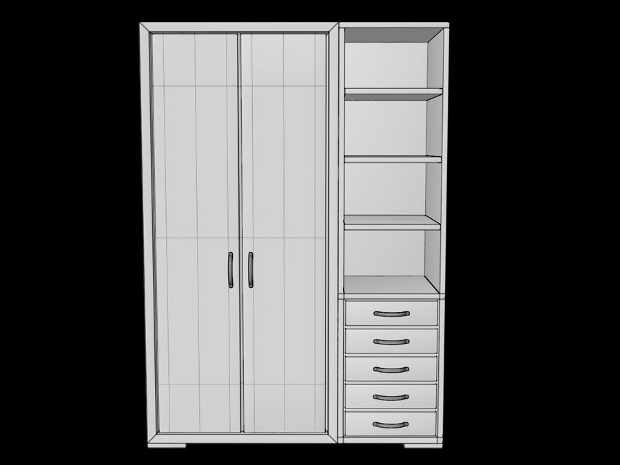 Armoire royalty-free 3d model - Preview no. 14
