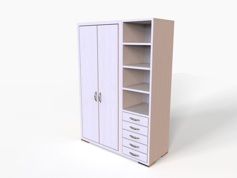 Armoire royalty-free 3d model - Preview no. 11