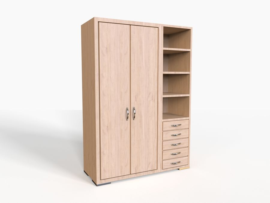 Armoire royalty-free 3d model - Preview no. 2