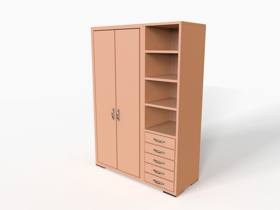 Armoire royalty-free 3d model - Preview no. 9