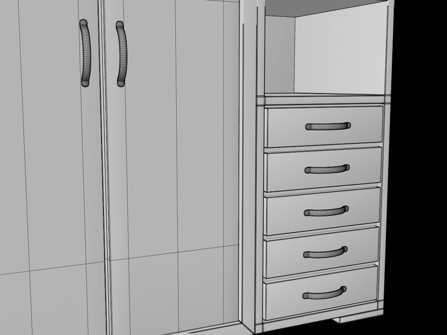 Armoire royalty-free 3d model - Preview no. 18