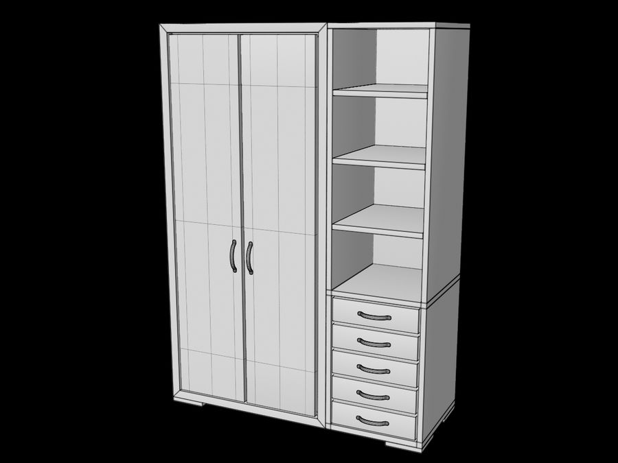 Armoire royalty-free 3d model - Preview no. 12