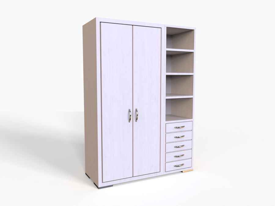 Armoire royalty-free 3d model - Preview no. 10
