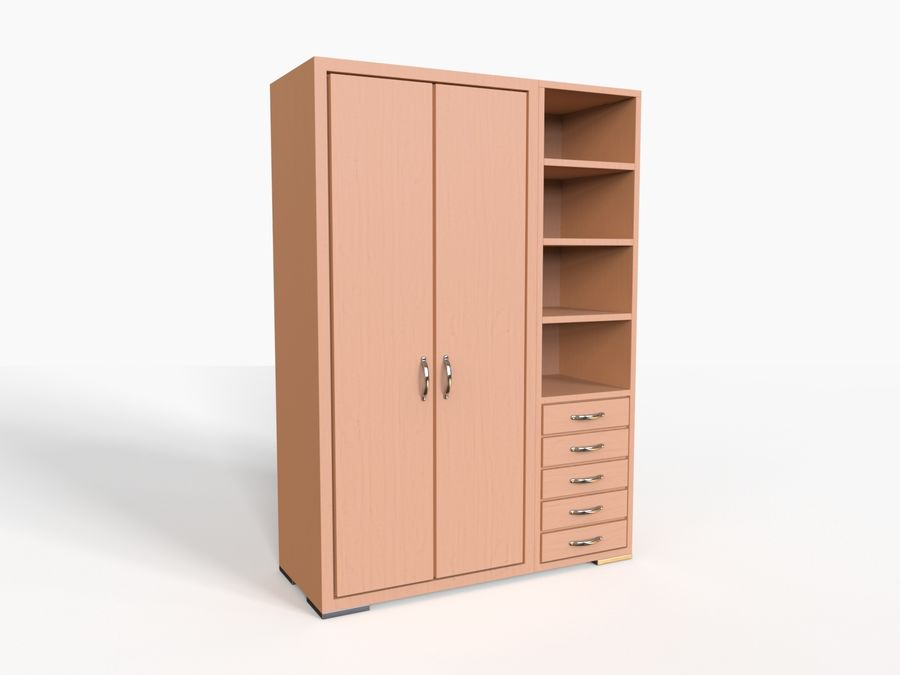 Armoire royalty-free 3d model - Preview no. 8