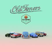 Düşük Poli Oldtimer Arabalar 3d model