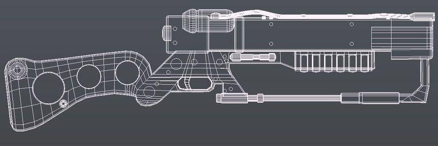 Futurystyczna broń royalty-free 3d model - Preview no. 4