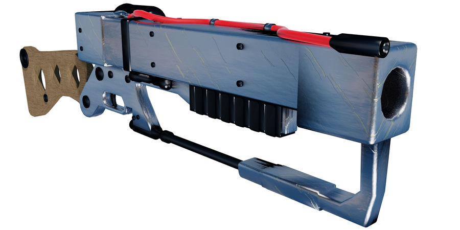 Futurystyczna broń royalty-free 3d model - Preview no. 1