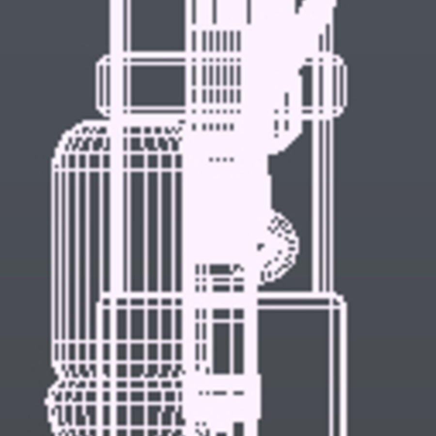 Futurystyczna broń royalty-free 3d model - Preview no. 5