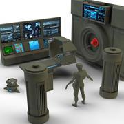 Military laboratory set 3d model