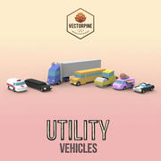 Low Poly Utility Vehicles 3d model