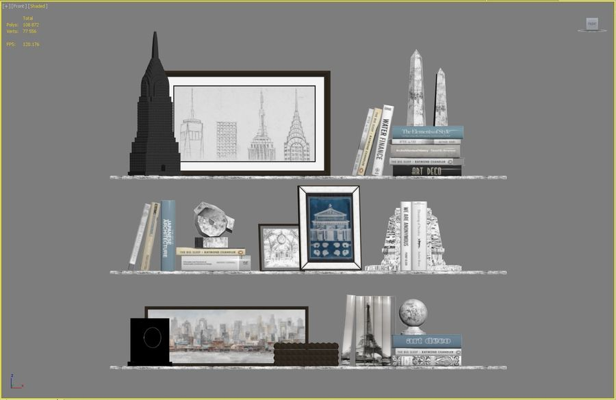 Architectuur Decor Set royalty-free 3d model - Preview no. 5