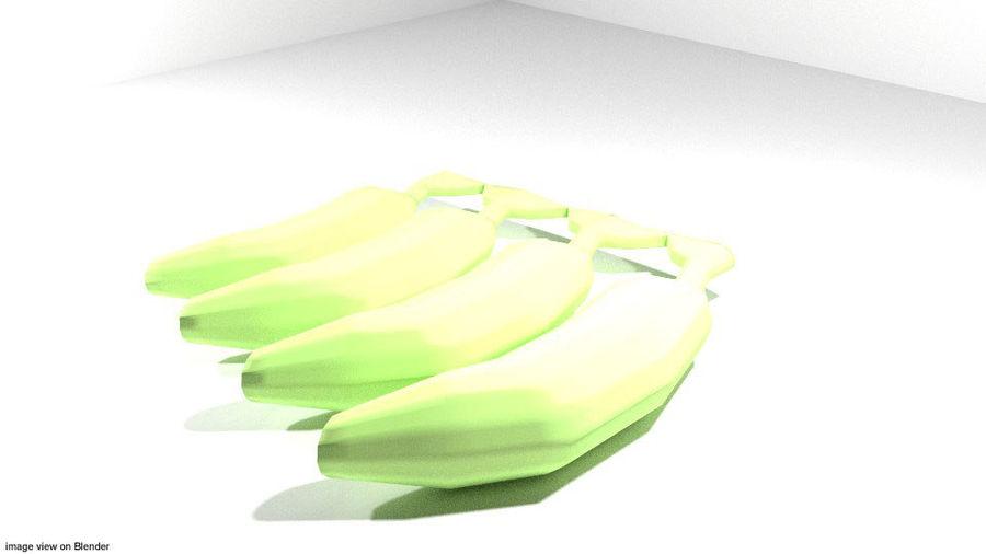 Fruta Tropical - Plátano royalty-free modelo 3d - Preview no. 1