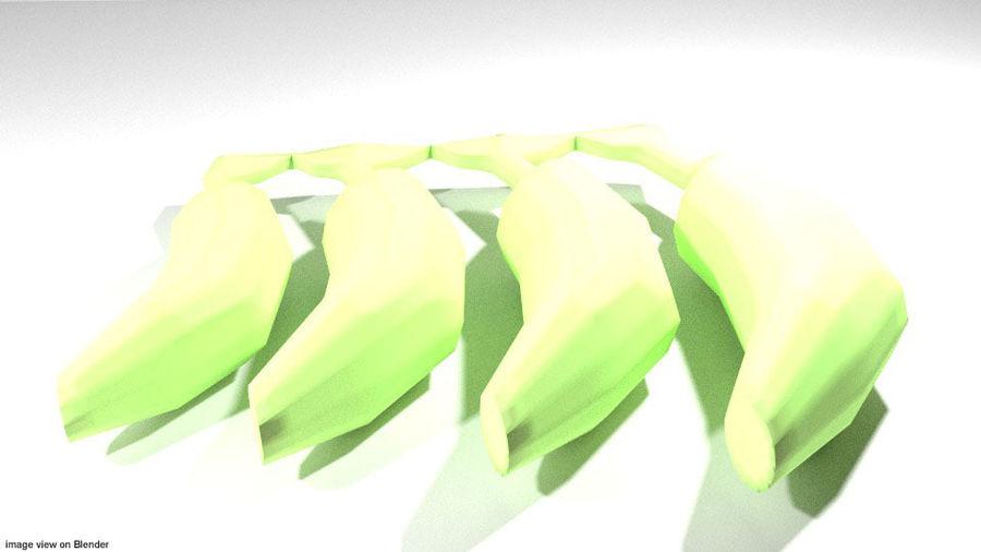 Fruta Tropical - Plátano royalty-free modelo 3d - Preview no. 2