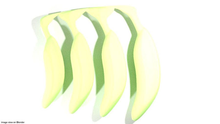 Fruta Tropical - Plátano royalty-free modelo 3d - Preview no. 3
