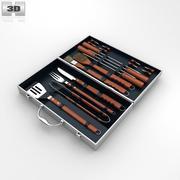 Barbecue Tool Set 3d model
