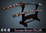 Меч самурая ТАЧИ 3d model