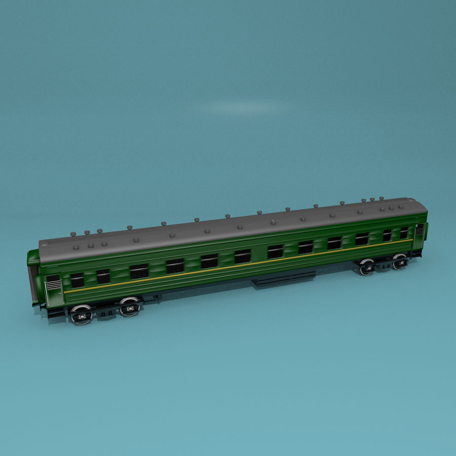 Вагон royalty-free 3d model - Preview no. 6